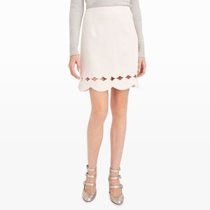 New Club Monaco Atrina pink scalloped skirt